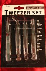 Pincett Set 4-pack