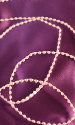 Pärlor på tråd 50 cm Vita