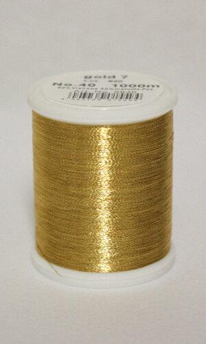 Madeira Metallic Guld 1000m Col.7