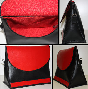 Pulvertroll's Design: Läderlook väska Stor
