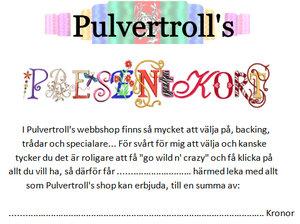 Pulvertroll's Presentkort