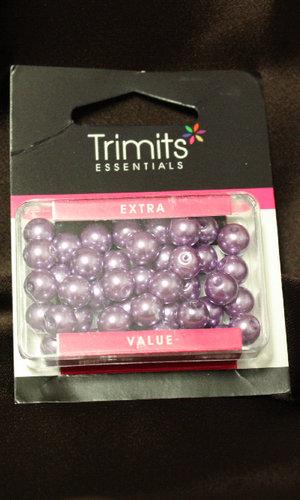 Pärlor Glas 8mm Lila