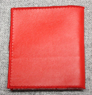 Pulvertroll's Design: Läderlook kredit plånbok