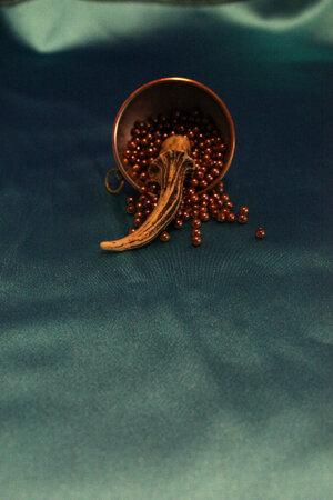 Pärlor Brons, plast