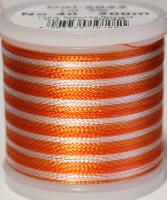 Flerfärgad tråd, Orange i olika toner mot vitt Col.2022