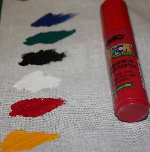 Glansig Färgpenna Röd