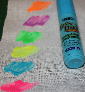 Självlysande Färgpenna Ljusblå