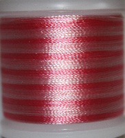 Flerfärgad tråd, Rosa i olika toner mot vitt Col.2021