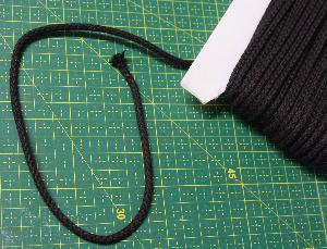 Grov Bomullssnodd Svart 4mm